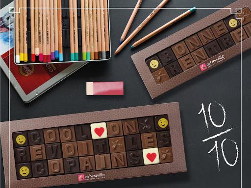 Messages chocolatés De Neuville PONTARLIER