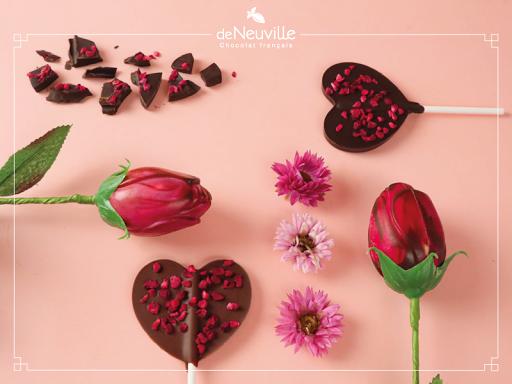 St Valentin rose, coeur et chocolat !